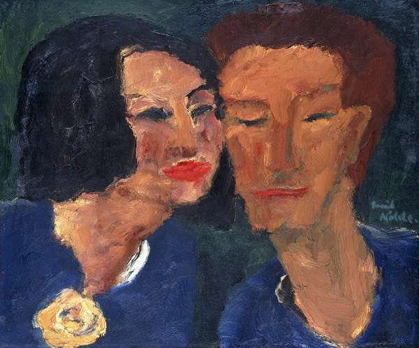Young Couple; Junges Paar, 1918 (oil on canvas)