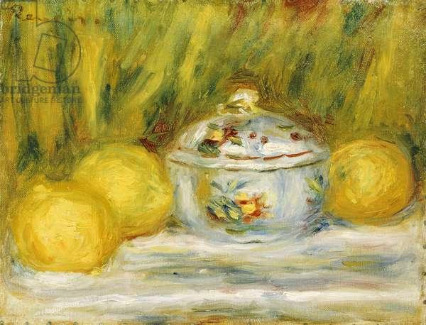 Sugar Bowl and Lemons, 1915 (oil on canvas)