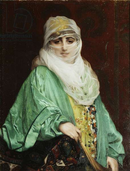 Woman from Constantinople, standing, c.1876 (oil on canvas)