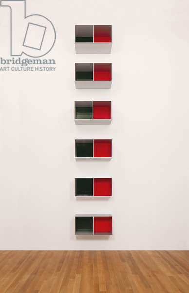 Untitled, 1988 (Menziken 88-16), 1988 (clear anodized aluminum, green over black and red Plexiglas)