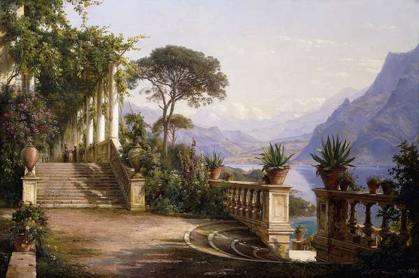 Loggia Fra Como, 1880 (oil on canvas)