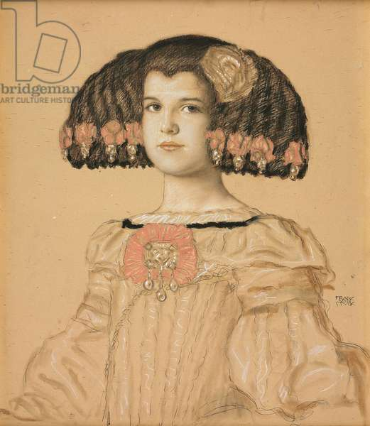 Portrait of Mary, the artist's daughter, in Spanish costume, 1908 (pencil, wash and pastel on board)