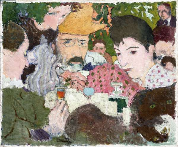 Garden Tasting, c.1891 (oil, pen and black ink over pencil on canvas)