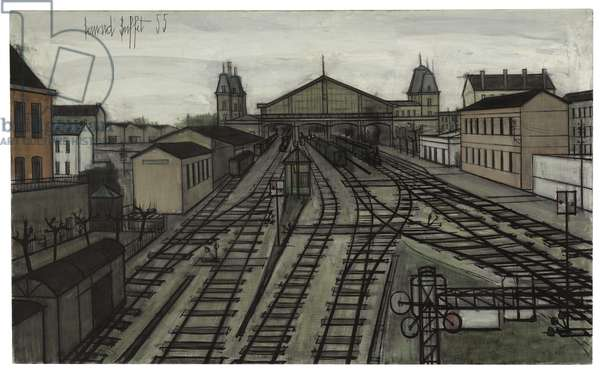 The Station, 1955 (oil on canvas)