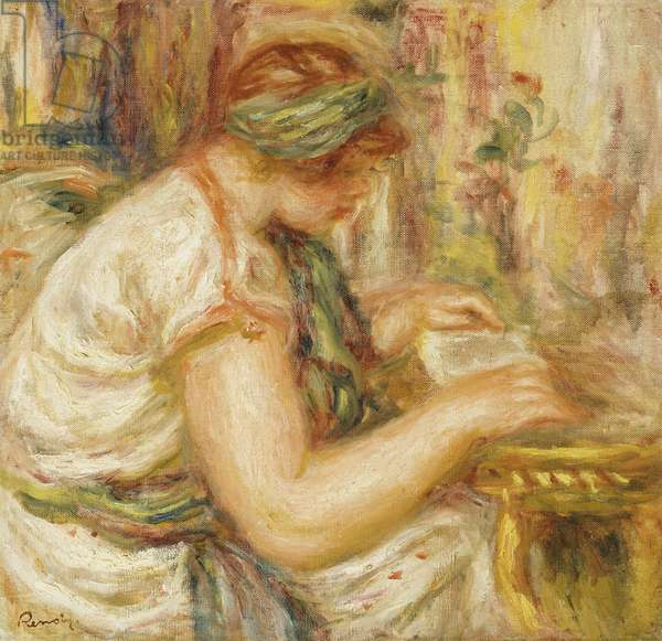 Woman in an Arab Blouse Reading, 1919 (oil on canvas)