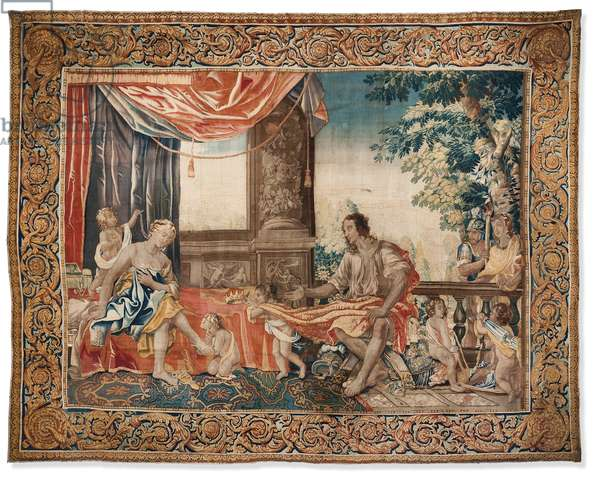 Tapestry from the series, 'Women of Antiquity Illustrated', c.1645 (wool & silk)