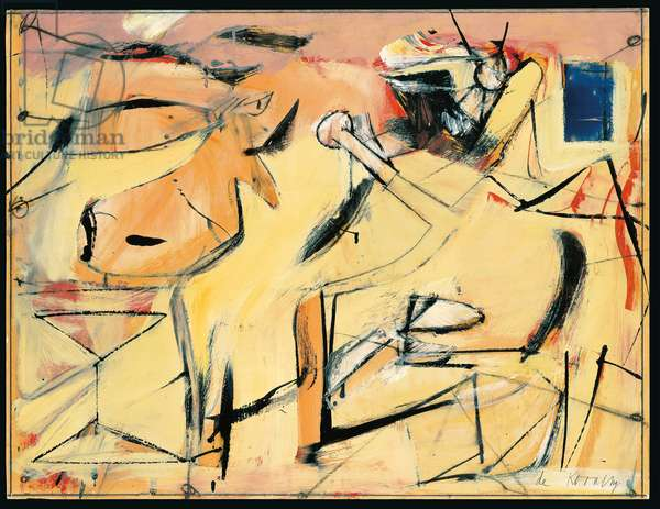 Sail Cloth, 1949 (oil, enamel, charcoal & graphite on board)