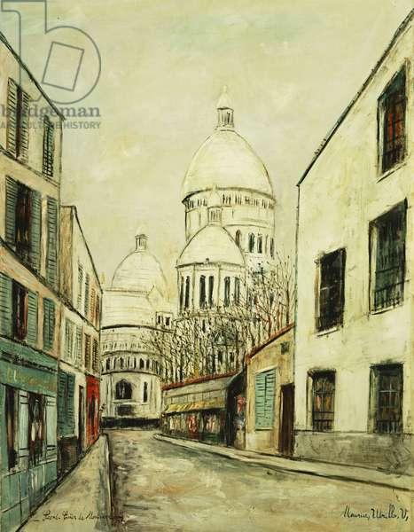 Sacre-Coeur de Montmartre (Rue du Chevalier de la Barre a Montmartre), c.1935 (oil on canvas)