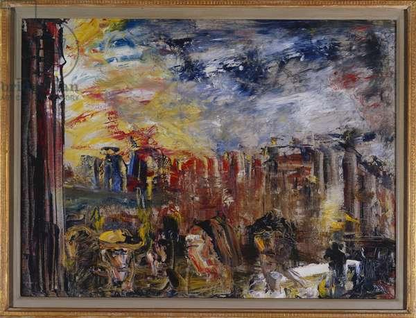 Old Corner (oil on canvas)
