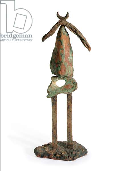 Great Standing Figure, 1956 (hand-painted terracotta with pebbles)