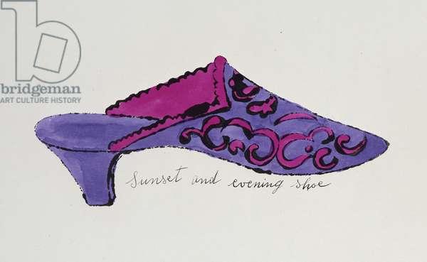 Sunset and Evening Shoe, from 'A la Recherche du Shoe Perdu', c.1955 (hand-coloured letterpress)