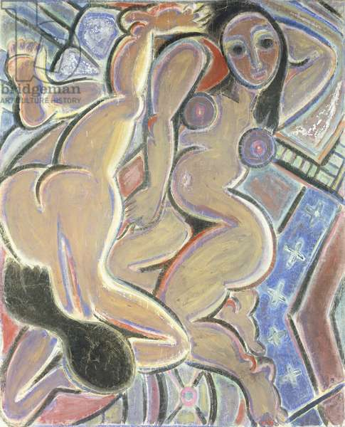 Women Recumbent; Mujeres Recostadas, c.1936-37 (pastel and gouache on paper laid down on linen)