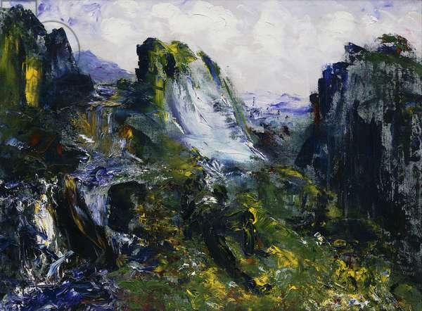 Sleep Beside Falling Water, (oil on canvas)