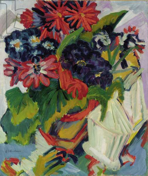 Flowers; Blumen, 1918-1919 (oil on canvas)