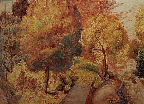 Landscape and figures