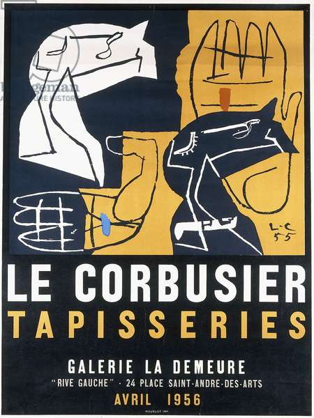 A poster for Le Corbusier's 'Tapisseries' exhibition at Galerie La Demeure, in April 1956, 1956 (offset colour lithograph)