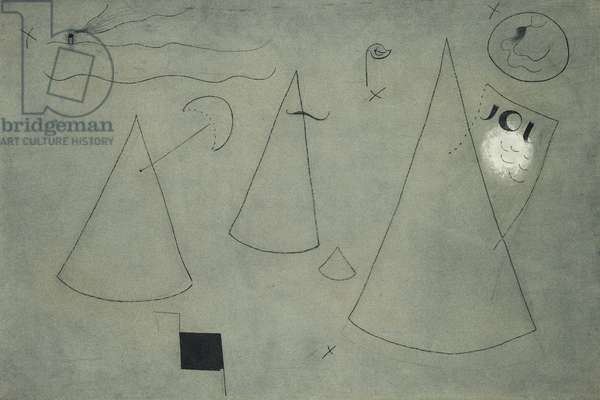 Summer; Ete, 1929 (charcoal and gouache on sandpaper)
