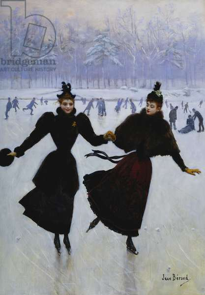 The Skaters; Les Patineuses, (oil on canvas)