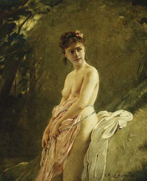 The Bather,  (oil on canvas)