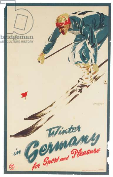 Winter in Germany, c.1935 (colour litho)