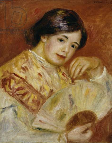 Coco with a Japanese Fan, c.1906 (oil on canvas)