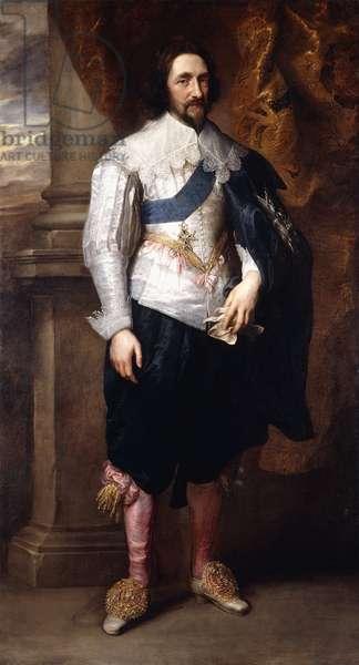 Portrait of Charles, Marquis de Vieuville,  (oil on canvas)