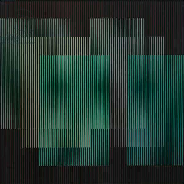 Physichromie 2198, Caracas, 1988 (silkscreen on aluminum & plastic inserts)