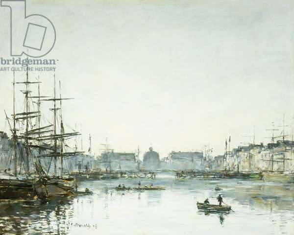 Le Havre, Le Bassin du Commerce, 1894 (oil on panel)