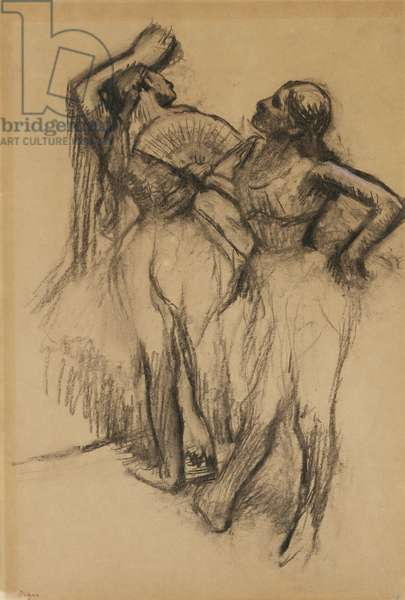 Two Dancers, 1888 (charcoal with traces of pastel on paper)
