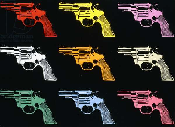 Guns, 1982 (synthetic polymer and silkscreen inks on canvas)