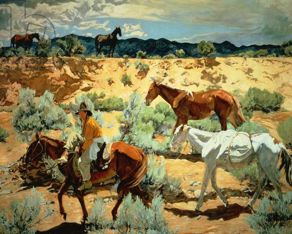 The Southwest (oil on canvas)