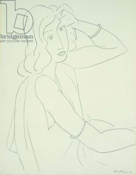 Femme aux Bracelets, 1944 (black chalk on paper)