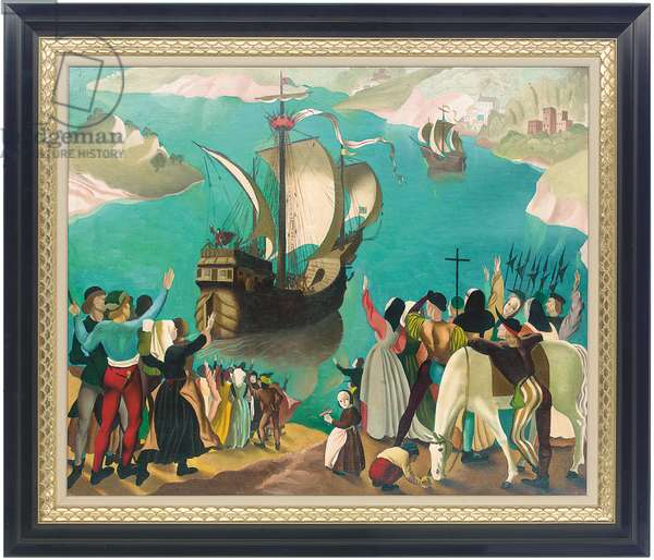 Bristol ships (oil on canvas)