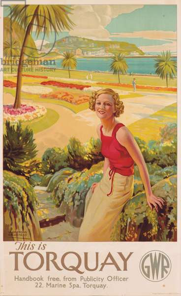 'This is Torquay', poster advertising Great Western Railway, c.1935 (colour litho)