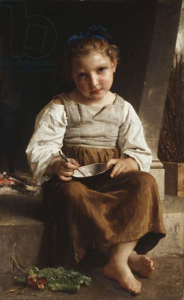 Gruel (Little Girl Eating her Soup), 1872 (oil on canvas)