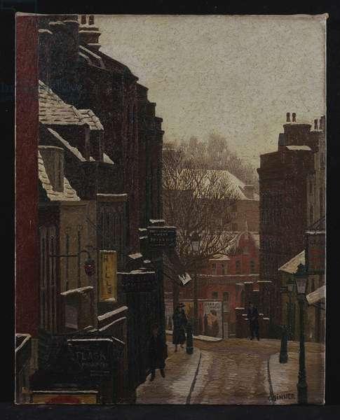 Flask Walk under Snow, 1937 (oil on canvas)