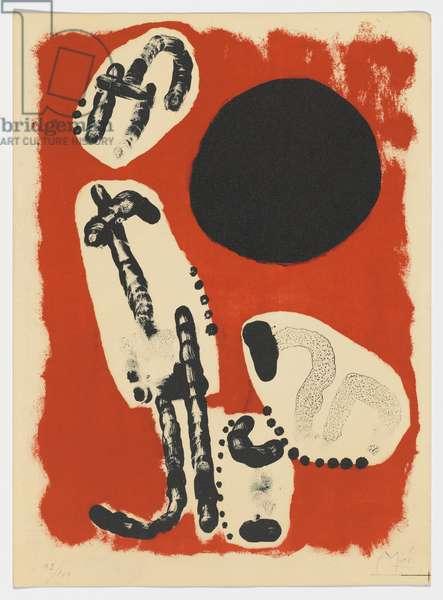 Astrology I, from: Derrière le Mirroir, no. 57-58-59, 1953 (colour litho)