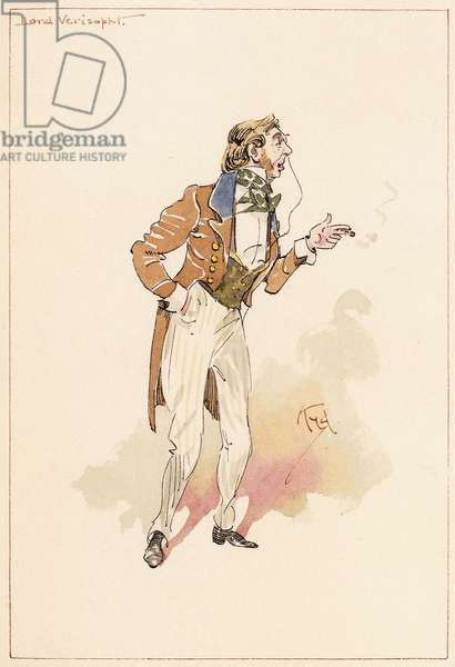 Lord Verisopht, 1883 (pen and ink, watercolour)