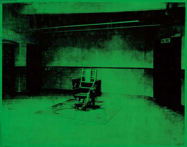 Little Electric Chair, 1964 (acrylic and silkscreen ink on canvas)