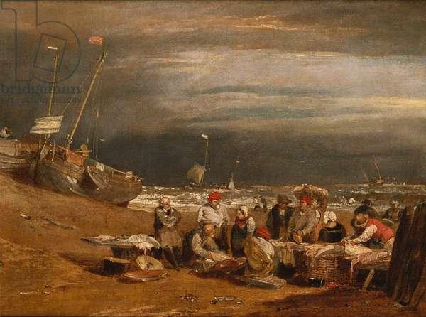 A Fishmarket on the Beach, c.1802-04 (oil on canvas)