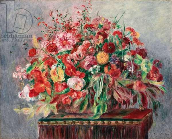 Basket of Flowers; Corbeille de fleurs, 1890 (oil on canvas)