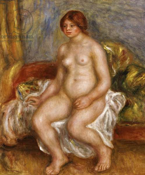 Nude woman on green cushions, 1909 (oil on canvas)