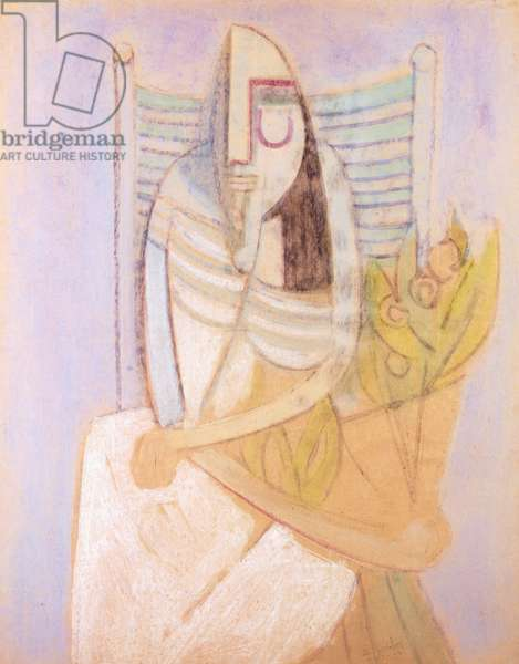 Oblivion (Seated Woman), 1948 (tempera on paper)