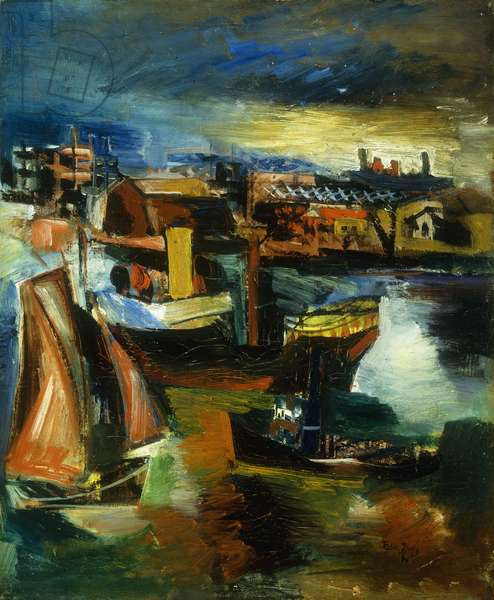 The Port, 1934 (oil on canvas)
