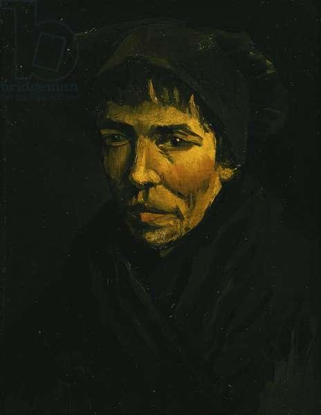 Head of a Peasant; Tete de Paysanne, 1885 (oil on canvas)