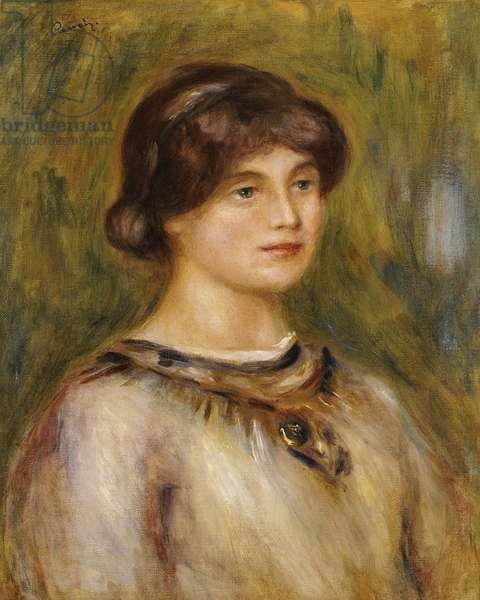 Portrait of Marie Lestringuez (oil on canvas)