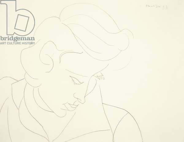 Head of a Woman, 1946 (pencil on paper)