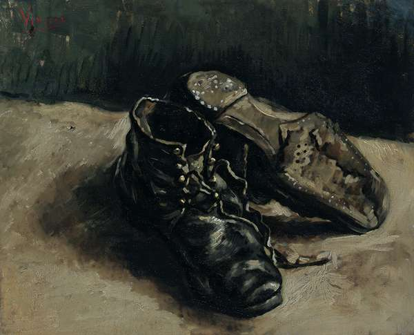A pair of shoes, 1886 (oil on canvas)
