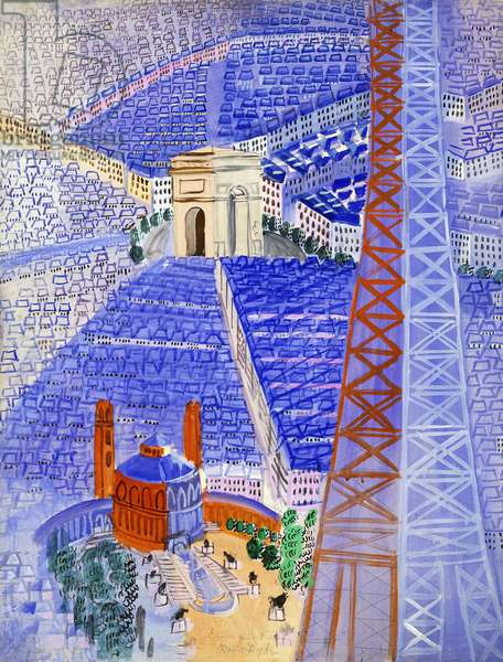 The Eiffel Tower Project for the Beauvais Tapestry; La Tour Eiffel, Projet pour la Tapisserie de Beauvais, c. 1929-1930 (gouache on paper)