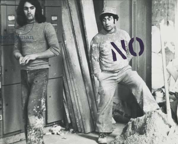 Sexual Rapport: Yes/No/Maybe, 1973-75 (acrylic on silver bromide print)